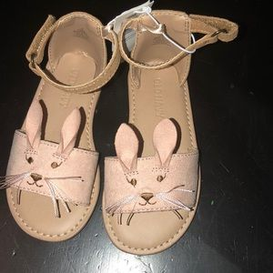 Old Navy bunny critter sandals for toddler girls 6
